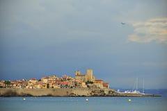安地比斯旧港口,法国海滨 法国 库存照片