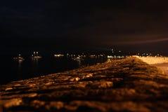 安地比斯,法国,夜 免版税图库摄影