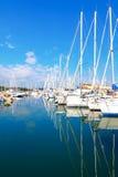 安地比斯,法国- 2011年10月17日:安地比斯港在地中海的 免版税库存照片