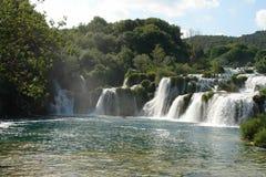 安塔利亚瀑布 库存图片