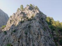 安塔利亚Goynuk峡谷 与树的美丽的山在国家储备 库存图片