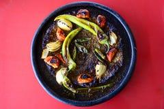 安塔基亚的土耳其盘子烘烤Kebap 免版税库存照片