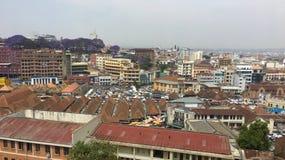 安塔那那利佛概要,马达加斯加的首都 免版税库存照片