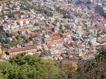 安塔那那利佛,城市看法从最高的小山阿那拉芒加区的 图库摄影