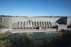 安大略水电站,尼亚加拉秋天,加拿大 免版税图库摄影