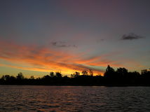 安大略湖日出 库存图片