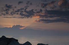 安大略湖日出 库存照片