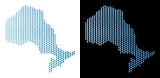 安大略省地图六角计划 皇族释放例证