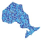 安大略省映象点地图拼贴画  库存例证