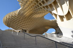 安大路西亚塞维利亚西班牙 Metropol遮阳伞结构 免版税图库摄影