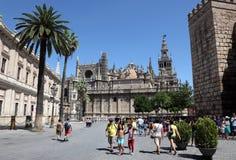 安大路西亚大教堂塞维利亚西班牙 免版税图库摄影