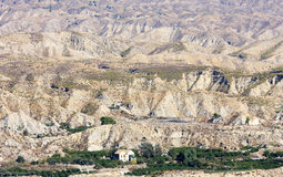 安大路西亚沙漠居住的西班牙塔宾斯沙漠自行车赛 库存图片