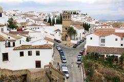 安大路西亚用增白剂擦镇朗达西班牙 免版税图库摄影