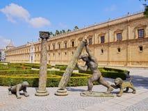 安大路西亚的议会在塞维利亚,西班牙 免版税图库摄影