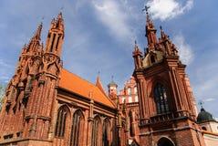安妮教会立陶宛st维尔纽斯 库存图片