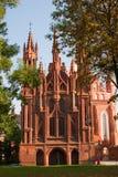 安妮教会s st维尔纽斯 免版税库存照片