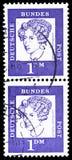安妮特冯德罗斯特Hulshoff 1797-1848,诗人,著名德国人serie男爵夫人,大约1961年 图库摄影