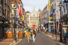 安妮街在都伯林,爱尔兰 免版税库存图片