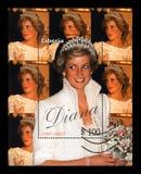 戴安娜公主,大约1997年 葡萄酒岗位邮票, 库存照片