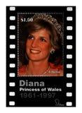 戴安娜公主,大约1997年,利比里亚, 库存照片