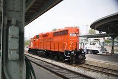安娜堡铁路机车 库存照片