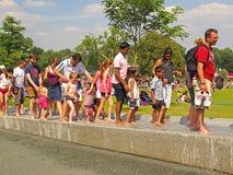 戴安娜威尔士王妃纪念品喷泉 免版税库存照片
