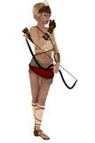 戴安娜有弓箭的希腊女神 图库摄影