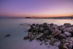 安娜玛丽亚海岛码头 库存照片