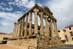 戴安娜` s寺庙,罗马遗产在梅里达 库存图片