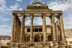 戴安娜` s寺庙-罗马遗产在梅里达 库存照片