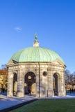 戴安娜tempel在慕尼黑在Hofgarden地区 免版税库存照片