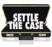 安定案件结束诉讼公文包谈判解决De 库存图片