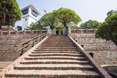 安屏堡垒,一个老荷兰人VOC堡垒在台南,台湾 免版税库存照片