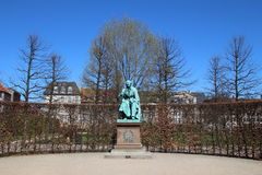 安徒生纪念碑在哥本哈根 图库摄影