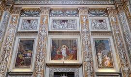 安得烈大教堂在曼托瓦,意大利 库存图片