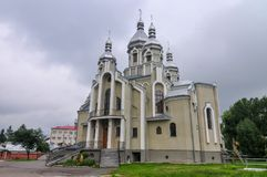 安得烈教会-德罗霍贝奇,乌克兰 免版税库存图片