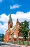 安得烈Bobola教会在比得哥什,波兰 库存照片