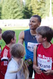 安德烈De格拉斯,加拿大人100m人运动员 库存照片