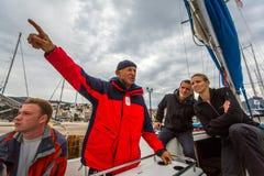 安德罗斯,希腊-水手参加航行赛船会 免版税库存照片