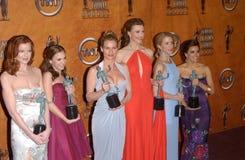 安德里亚Bowen,坚强的布伦达,伊娃・朗歌莉亚,费利西蒂・赫夫曼,马西娅Cross, Nicolette谢里登,绝望主妇 图库摄影