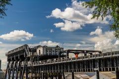 安德顿小船推力,运河自动扶梯 图库摄影