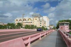 安德鲁斯大道桥梁在劳德代尔堡,佛罗里达,美国 免版税库存照片