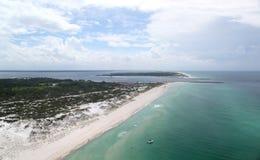 安德鲁斯海滩通道公园st状态 库存照片