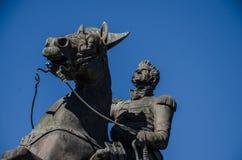 安德鲁・约翰逊将军-杰克逊广场雕象-新奥尔良 库存照片