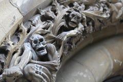 安心与死亡有关的胜利在维托里亚Gasteiz新的大教堂的穹窿形的  库存图片
