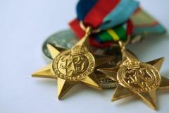 安扎克军事奖牌 库存图片