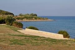 安扎克小海湾, Galllipoli,土耳其 免版税库存照片