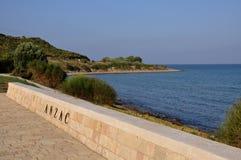 安扎克小海湾& Aegian海, Galllipoli,土耳其 免版税库存照片