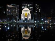 安扎克战争纪念建筑,海德公园,悉尼nightscene  免版税库存照片