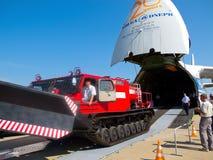 安托诺夫伏尔加河德聂伯级卸载- AN-124-100 库存照片